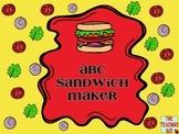 Alphabet Sandwiches-Letter Recognition Centers