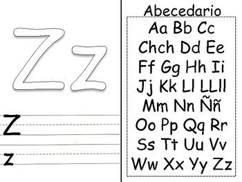 Alphabet Say Trace Write Book SPANISH