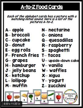 Alphabet Scavenger Hunt: Foods
