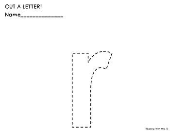 Alphabet Scissors Practice