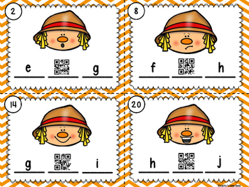 Alphabet Scoot Scarecrow Missing Letters