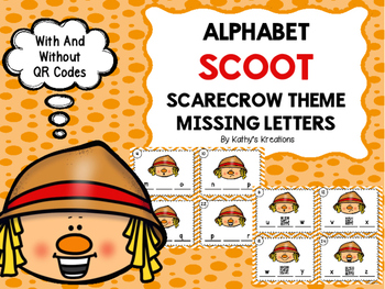 Alphabet Scoot Scarecrow Theme Missing Letters