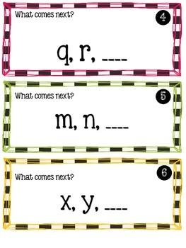 Alphabet Scoot {What Letter Comes Next}