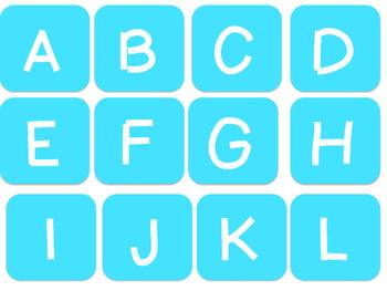 Alphabet Scrabble Letters