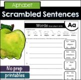 Alphabet Scrambled Sentences