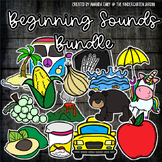 Beginning Sounds Alphabet Scribble Clips Sclipart- Growing Bundle