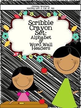 Alphabet: Scribble Crayon Edition