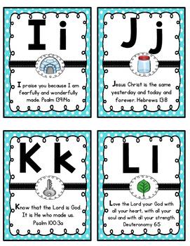 Alphabet Scripture Flashcards