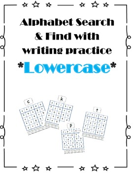 Alphabet Search & Find Lowercase
