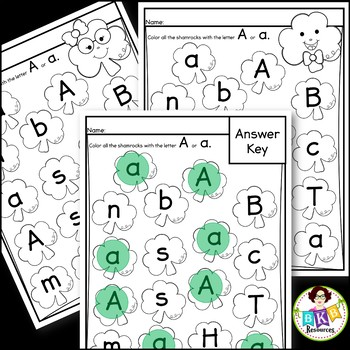 Alphabet Search and Color ● Letter Recognition ● St. Patrick's Day