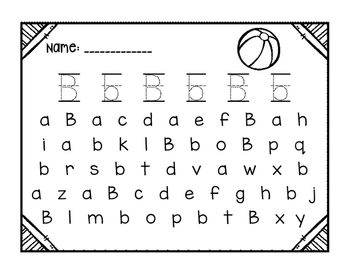 Alphabet Search and Write