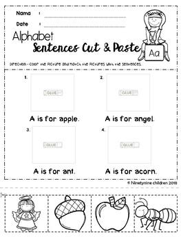 Alphabet Sentences ( Cut & Paste)