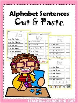 Alphabet Sentences Cut and Paste