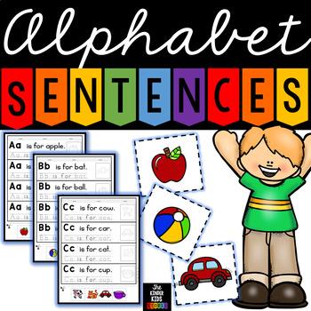 Alphabet Sentences Flip Book