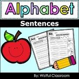 Alphabet Sentences Writing Worksheets- ESL Learners