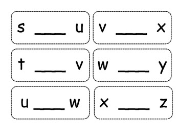 Alphabet Sequence Cards