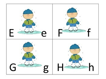 Alphabet Sequence Center--5 sets and 5 worksheets--winter theme