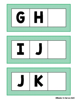 Alphabet Sequence: Missing Letters, Uppercase and lowercase letters