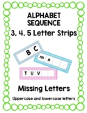 Alphabet Sequence: Missing Letters, Uppercase & lowercase 3, 4, 5 Letters