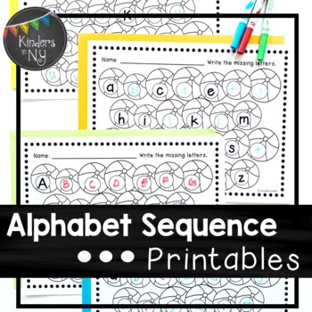 Alphabet Sequence Printables {Summer Theme}
