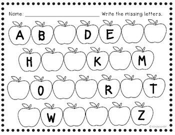 Alphabet Sequence Printables {Fall Theme} PreK, K, First