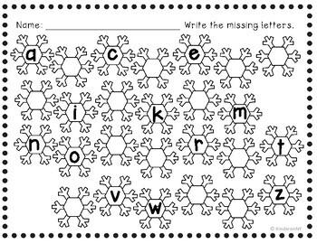 Alphabet Sequence Printables {Winter Theme}
