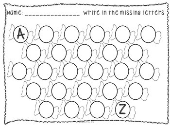 Alphabet Sequence Printables {Four Seasons Bundle}; PreK/Kindergarten/First