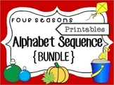 Alphabet Sequence Printables {Four Seasons Bundle}; PreK/K