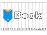 Alphabet Sequence Spelling Puzzle.  Spell Book. Preschool learning game