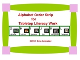 Alphabet Sequence Strip and cards activity