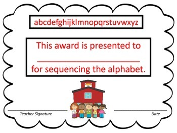 Alphabet Sequencing--3 Sets of ABC Flashcards--Back to School Theme