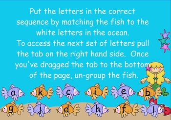 Alphabet Sequencing Activity - Under the Sea
