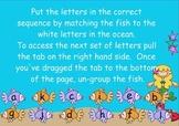 Alphabet Sequencing Activity - Under the Sea