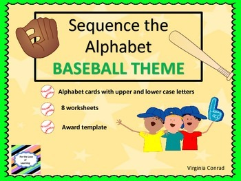 Alphabet Sequencing--Baseball Theme