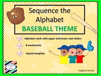 Alphabet Sequencing--Baseball Theme
