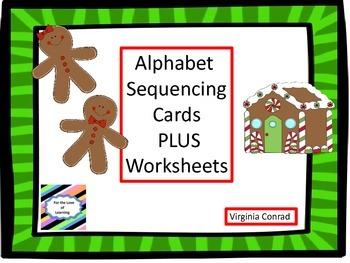 Alphabet Sequencing Center---5 Different Christmas Sets