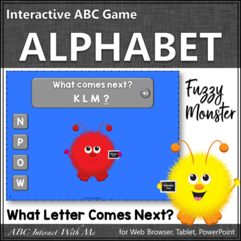Alphabet Sequencing Interactive Alphabet Game {Monsters}