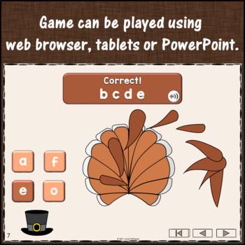 Alphabet Sequencing {Interactive Alphabet Game} Build a Turkey