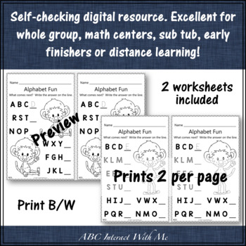 Alphabet Sequencing Interactive Alphabet Game {Dancing Monkey}