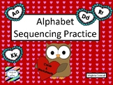 Alphabet Sequencing Practice:  Valentine's Day Theme