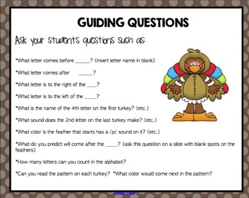 Thanksgiving Alphabet Sequencing Puzzles for Smartboard - Turkey Theme