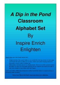 Alphabet Set: A Dip In The Pond