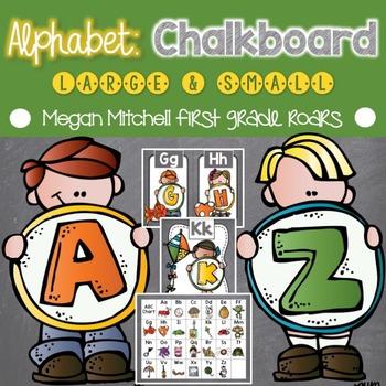 Alphabet Set: Chalkboard