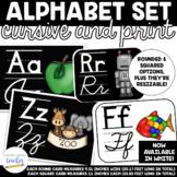 Alphabet Set {Cursive and Printing} BLACK AND WHITE OPTIONS!