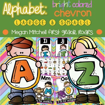 Alphabet Set: Pastel Chevron  & Stripes
