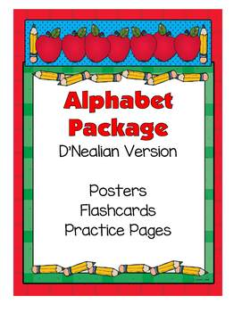 Alphabet Set - Posters, Flashcards, Practice Pages (D'Nealian)
