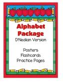 Alphabet Set - Posters, Flashcards, Practice Pages (D'Nealian)