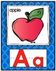 Quatrefoil Alphabet Set (Regular-size) with Word Wall Cards