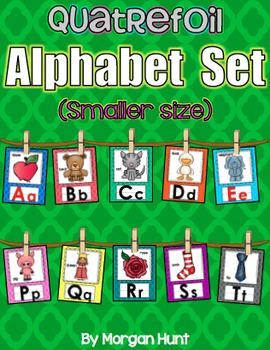 Quatrefoil Alphabet Set (Smaller size) with Word Wall Cards