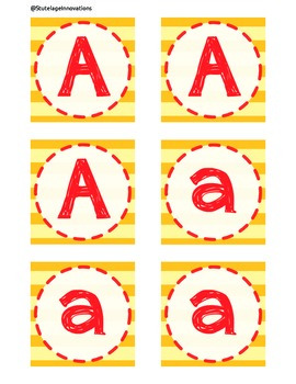 Alphabet Set - Striped Yellow and Red Set